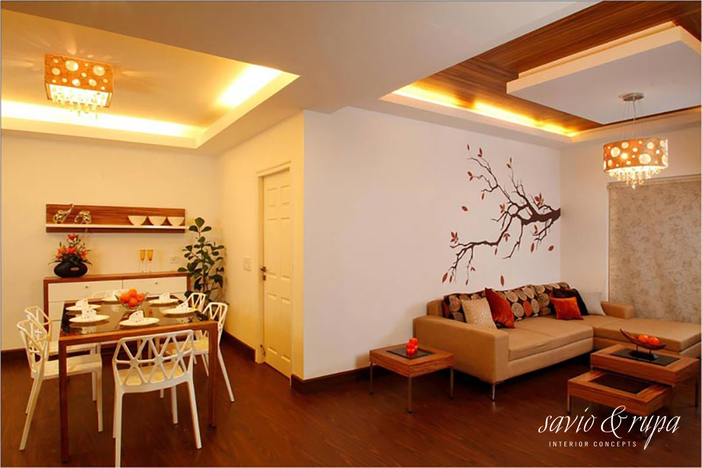 Savio and rupa interior concepts for Living room designs bangalore